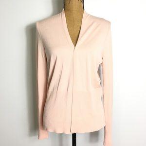 LOFT Blush Pink Open Cardigan M